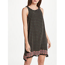 Buy Max Studio Sleeveless Geometric Border Print Dress, Black/Multi Online at johnlewis.com