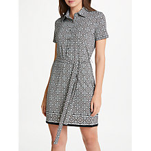 Buy Max Studio Print Jersey Shirt Dress, Black/Multi Online at johnlewis.com