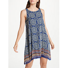 Buy Max Studio Sleeveless Printed Dress, Monaco Blue/Multi Zen Tile Online at johnlewis.com