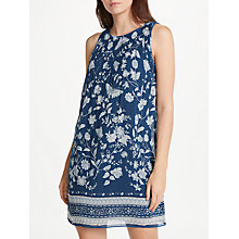 Buy Max Studio Sleeveless Printed Pleated Dress, Blue Online at johnlewis.com