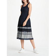 Buy Max Studio Sleeveless Smocked Midi Dress, Dark Navy Online at johnlewis.com