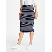 Buy Max Studio Stripe Jersey Skirt, Navy/White Online at johnlewis.com