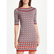 Buy Max Studio Elbow Sleeve Printed Dress, Red/Multi Online at johnlewis.com
