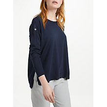 Buy Marella Button Shoulder Jumper, Navy Online at johnlewis.com