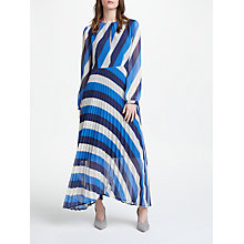 Buy Marella Long Sleeved Stripe Maxi Dress, Navy Online at johnlewis.com