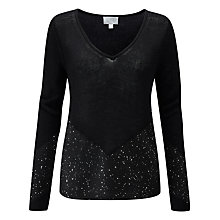 Buy Pure Collection Sequin Cashmere Jumper, Black Online at johnlewis.com