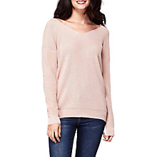 Buy Yumi Chiffon Back Bow Jumper, Blush Online at johnlewis.com