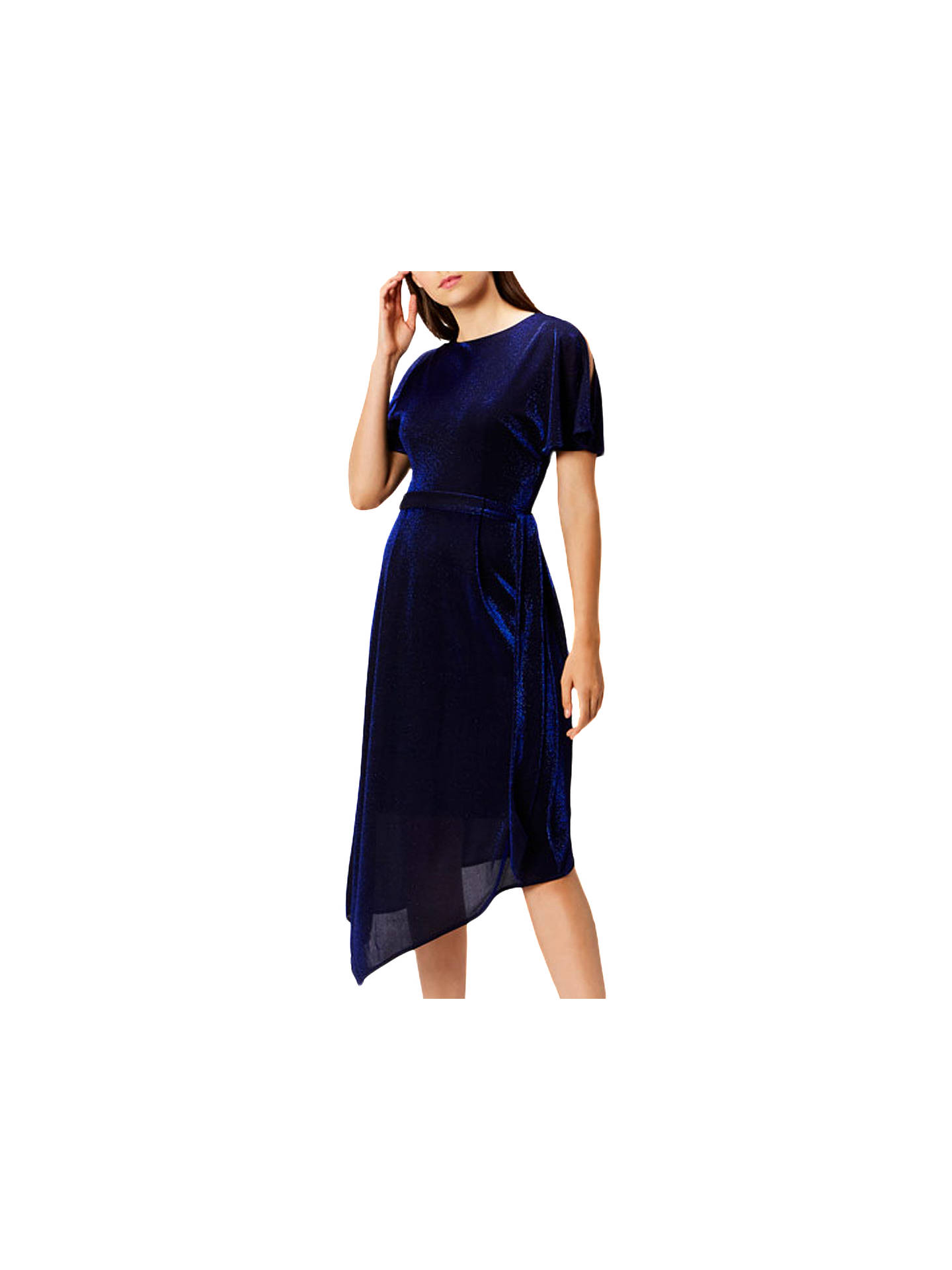 BuyCoast Jemma Sparkle Jersey Dress, Cobalt Blue, 6 Online at johnlewis.com