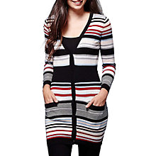Buy Yumi Ribbed Striped Cardigan, Multi Online at johnlewis.com