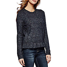 Buy Yumi Frilled Hem Jumper, Navy Online at johnlewis.com
