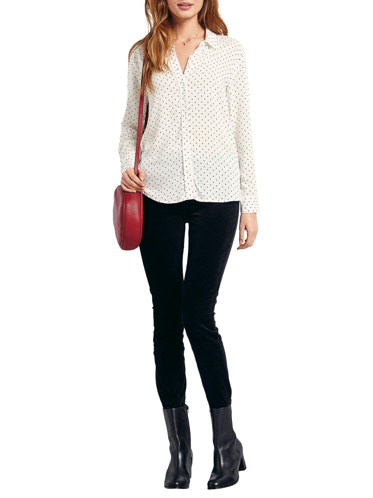 e36a42afe Buy hush Sintra Arrow Print Shirt, White/Black, 6 Online at johnlewis.