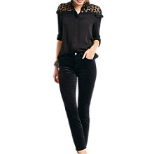 Buy hush Brooklyn Lace Blouse, Black Online at johnlewis.com