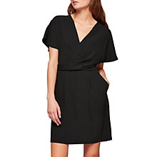 Buy Miss Selfridge Kimono Sleeve Dress, Black Online at johnlewis.com