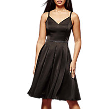 Buy Yumi Jewelled Satin Dress, Black Online at johnlewis.com