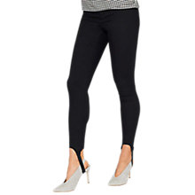 Buy Miss Selfridge Steffi Stirrup Jeans, Black Online at johnlewis.com