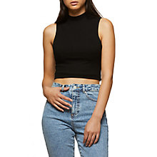 Buy Miss Selfridge Funnel Neck Top Online at johnlewis.com