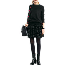 Buy hush Mona Star Devore Skirt, Black Online at johnlewis.com