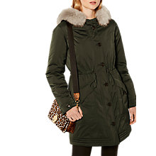 Buy Karen Millen Casual Down Parka, Khaki Online at johnlewis.com