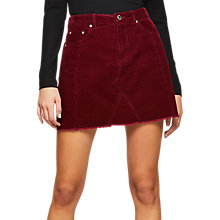 Buy Miss Selfridge Cord A-Line Skirt Online at johnlewis.com
