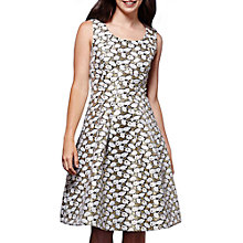 Buy Yumi  Metallic Jacquard Dress, Gold Online at johnlewis.com