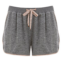 Buy Hygge by Mint Velvet Brushed Jersey Pyjama Shorts, Grey Online at johnlewis.com