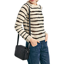Buy hush Irregular Striped Jumper, Ecru/Black Online at johnlewis.com