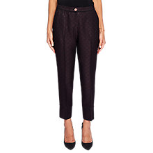 Buy Ted Baker Helgaat Jacquard Piping Suit Trousers, Grape Online at johnlewis.com
