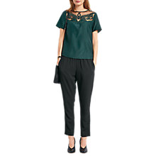 Buy hush Aurora Silk Blend Top, Dark Forest Online at johnlewis.com