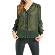 Buy hush Barossa Blouse, Green Snake Online at johnlewis.com