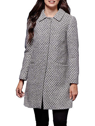 Buy Yumi Printed Texture Coat, Grey, 8 Online at johnlewis.com