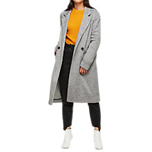 Buy Miss Selfridge Herringbone Duster Jacket, Grey Online at johnlewis.com