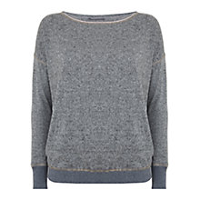 Buy Hygge by Mint Velvet Brushed Jersey Hem Jumper, Grey Online at johnlewis.com