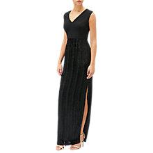 Buy Adrianna Papell Jersey Velvet Column Gown, Black Online at johnlewis.com