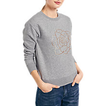Buy hush Rose Sweat Top, Grey Marl/Gold Online at johnlewis.com