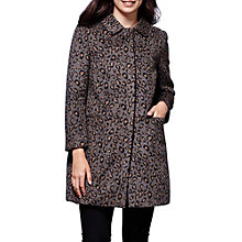 Buy Yumi Leopard Print Coat, Grey Online at johnlewis.com