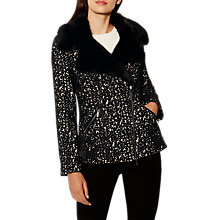Buy Karen Millen Animal Biker Jacket, Leopard Print Online at johnlewis.com