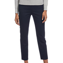 Buy Whistles Wool Flannel Slim Leg Trousers, Navy Online at johnlewis.com