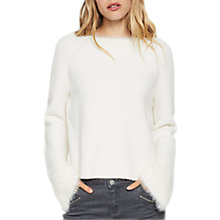Buy Mint Velvet Fluffy Sleeve Boxy Jumper, Ivory Online at johnlewis.com