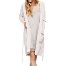 Buy Hygge by Mint Velvet Pure Cashmere Longline Lounge Cardigan, Light Pink Online at johnlewis.com