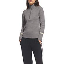 Buy Whistles Rib Front Chunky Knit Jumper Online at johnlewis.com