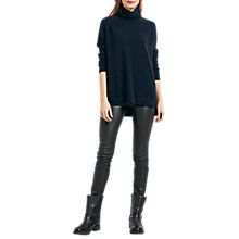 Buy hush Cashmere Roll Neck Jumper, Midnight Marl Online at johnlewis.com