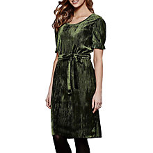 Buy Yumi Crinkled Dress, Olive Green Online at johnlewis.com