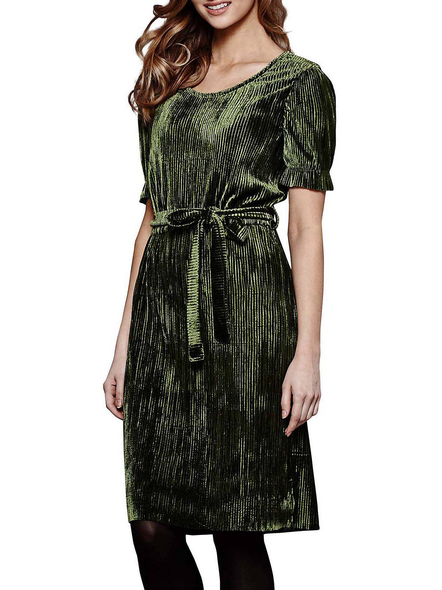 974ad8bef1789 Yumi Crinkled Dress, Olive Green at John Lewis & Partners