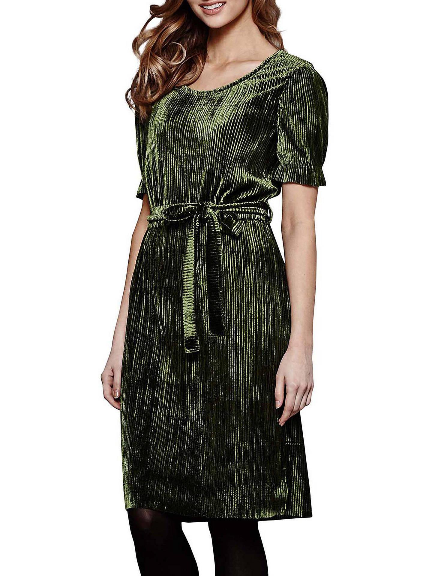 def42d7f7e638 Yumi Crinkled Dress, Olive Green at John Lewis & Partners