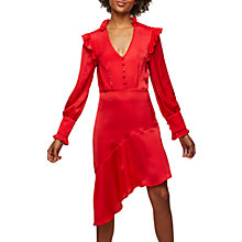 Buy Miss Selfridge Asymmetric Shift Dress, Red Online at johnlewis.com