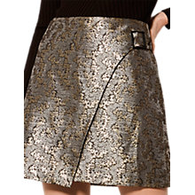 Buy Karen Millen Jacquard Collection Skirt, Gold Online at johnlewis.com