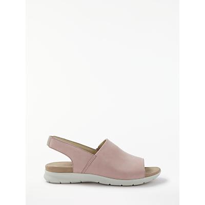 John Lewis Designed for Comfort Lainie Sandals, Pink Nubuck