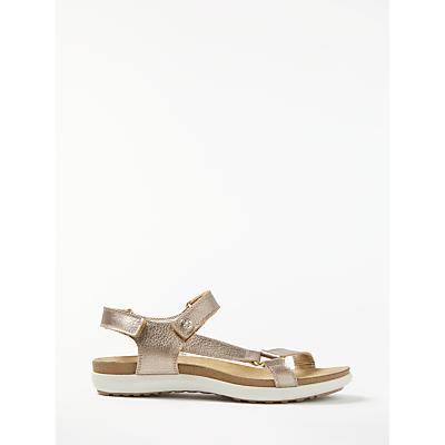 John Lewis Designed for Comfort Lissa Open Toe Flat Sandals, Gold Leather