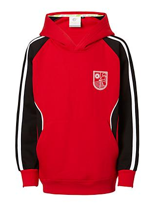 Redmaids' High School Hoodie, Red/Black/White