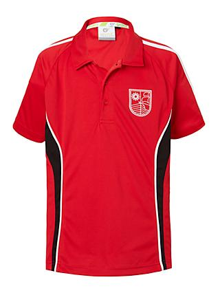 Redmaids' High School Polo Shirt, Red